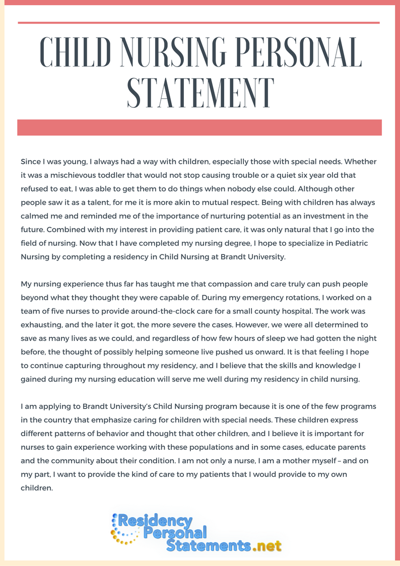 "child nursing personal statement help How to write an effective personal statement for a ""i have worked in a child protection team care homes get 40 per cent boost in nursing fees."