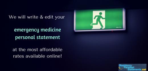 emergency medicine personal statement