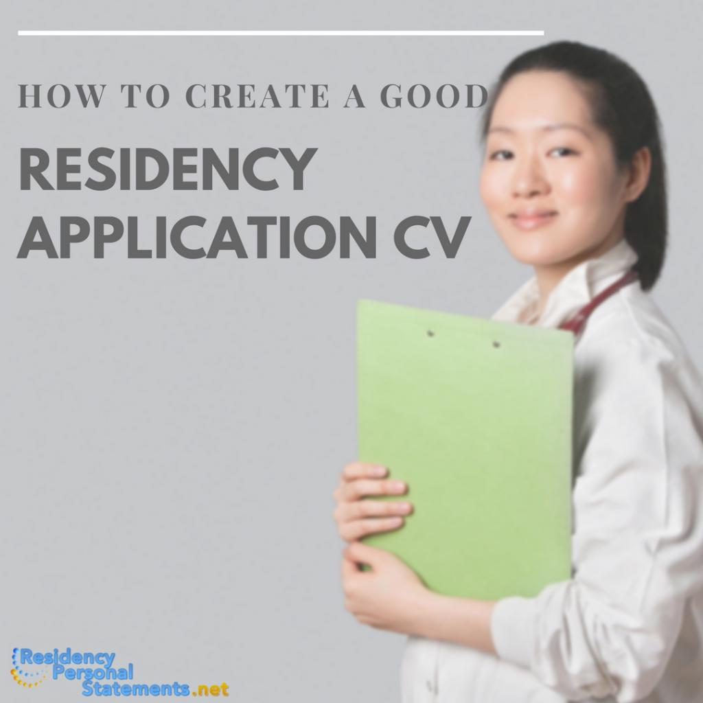 residency application cv help