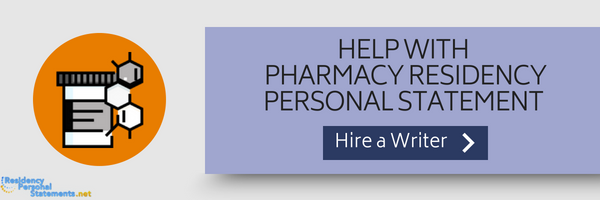 help with pharmacy residency personal statement