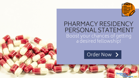 pharmacy residency personal statement writing