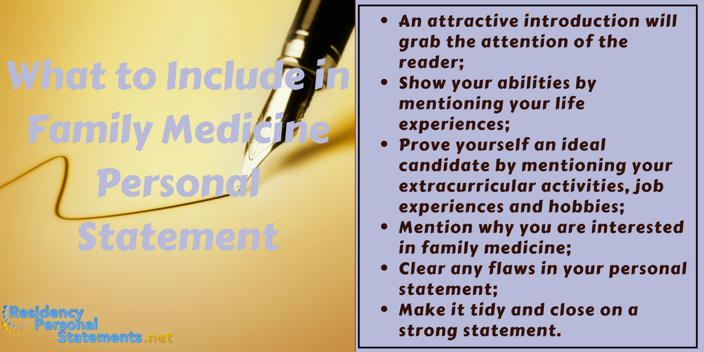 family medicine personal statement sample tips
