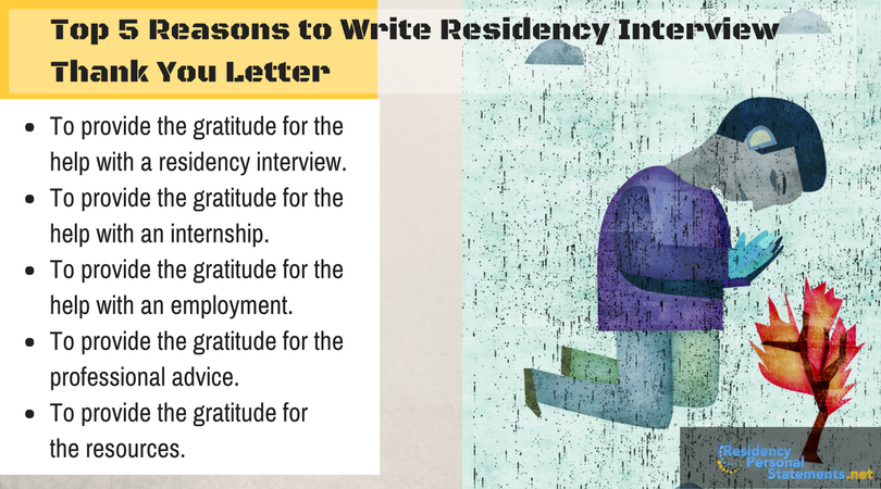 residency interview thank you letter purposes