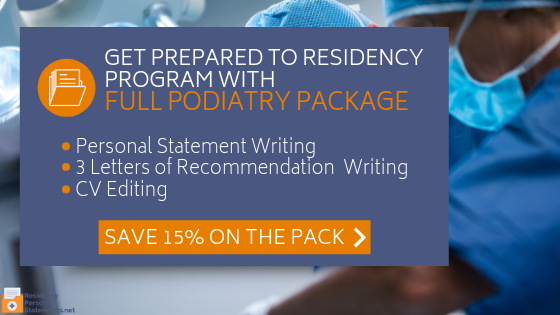 excellent podiatry personal statement