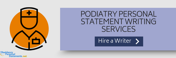 podiatry personal statement writing service