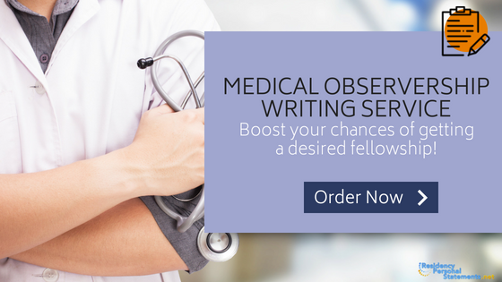 medical observership writing service