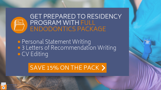 winning endodontics residency personal statement