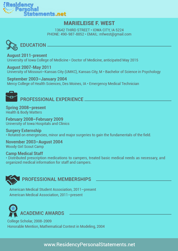 An outstanding cv for medical residency residency letter of recomendation altavistaventures Gallery