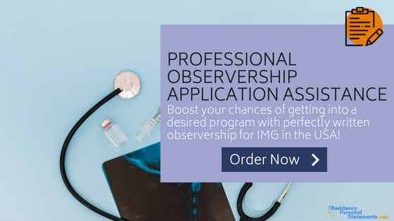 observership in usa for img application assistance
