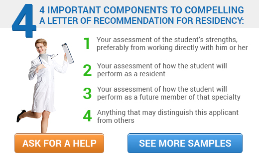How to write a letter of recommendation for residency