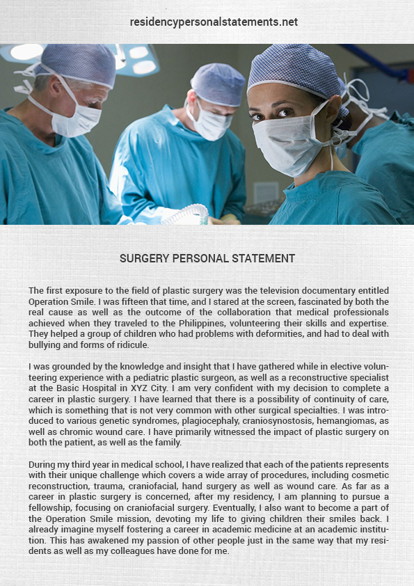 Impressive Surgery Residency Personal Statements
