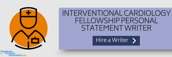 interventional cardiology fellowship personal statement writer
