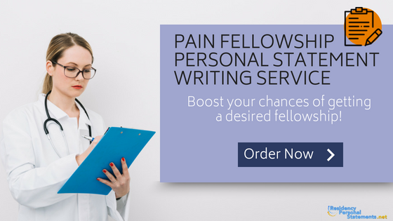 pain fellowship personal statement writing