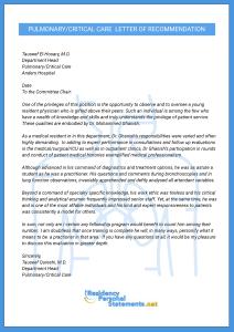 fellowship letter of recommendation sample