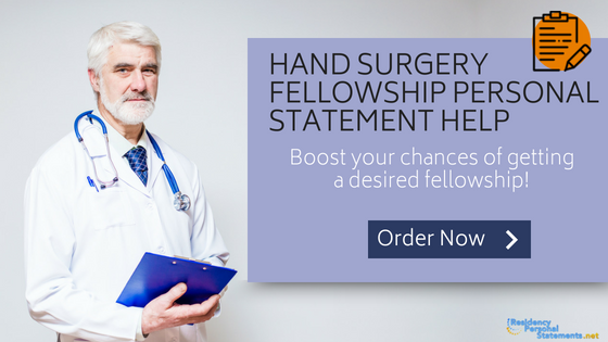 hand surgery fellowship personal statement