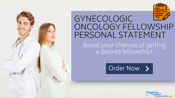 gynecologic oncology fellowship personal statement