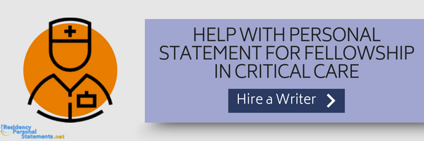 personal statement for fellowship in critical care