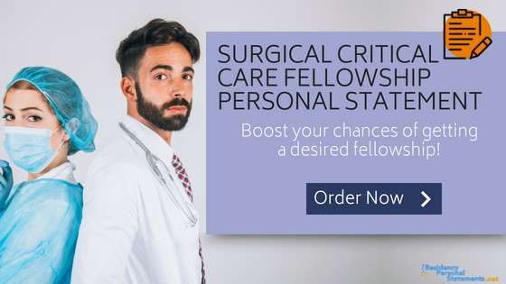 surgical critical care fellowship personal statement