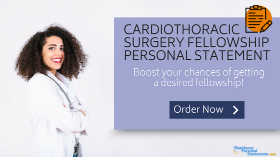 cardiothoracic surgery fellowship personal statement