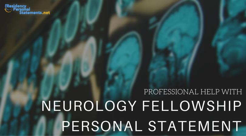 interventional neurology fellowship personal statement