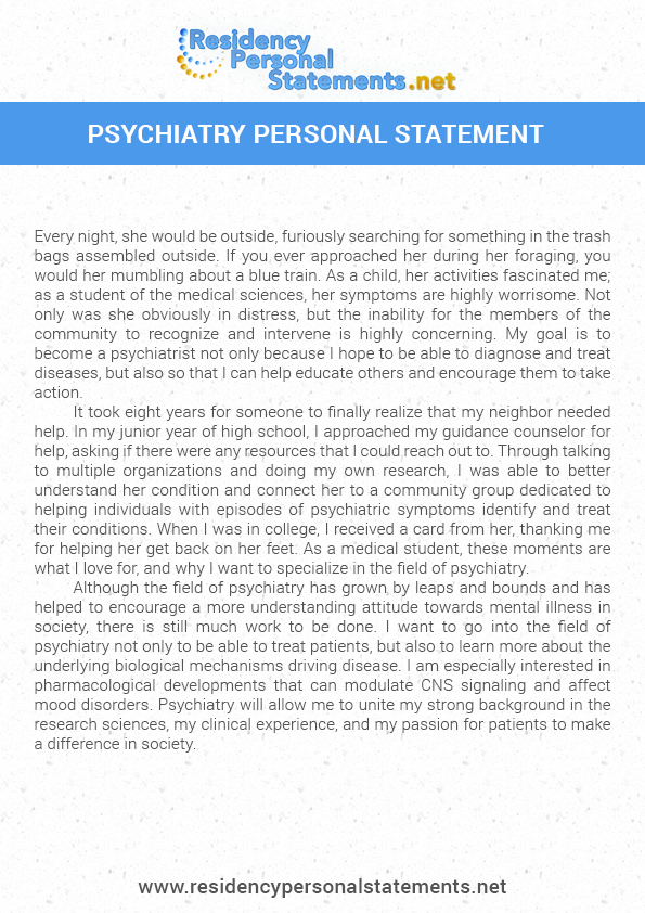 Help on writing a personal statement business