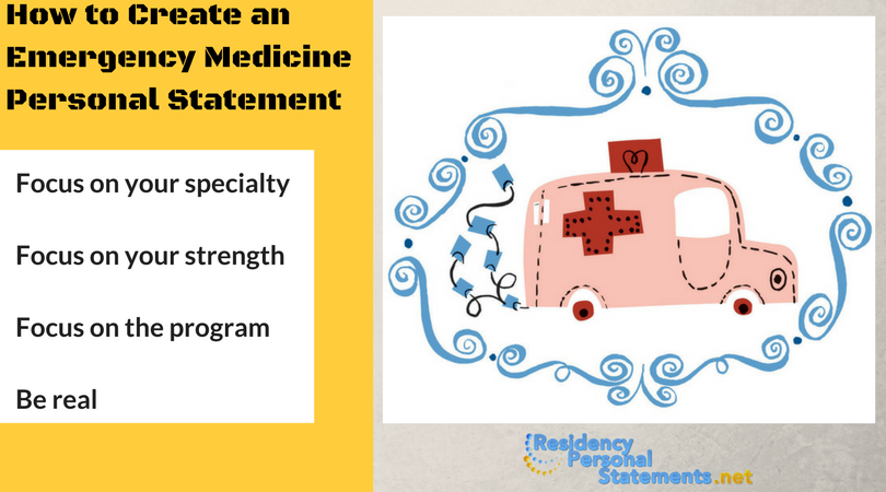 tips on writing personal statement for emergency medicine residency programs