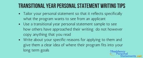 transitional year personal statement writing tips