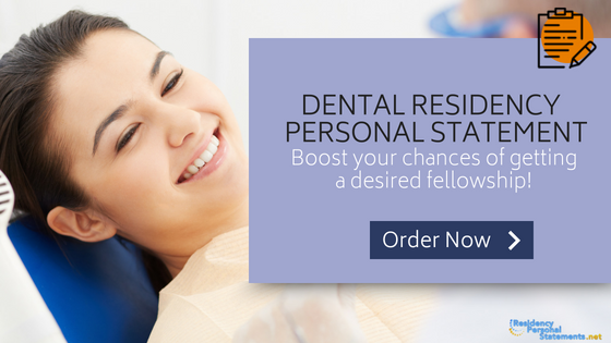 dental residency personal statement writing