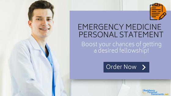 emergency medicine personal statement writing
