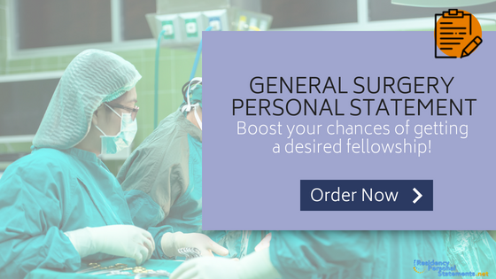 general surgery residency personal statement writing