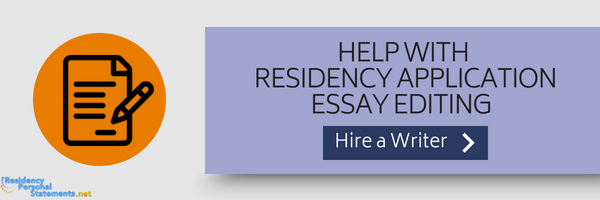 help with residency admission essay editing