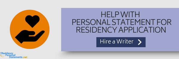 help with residency application personal statement