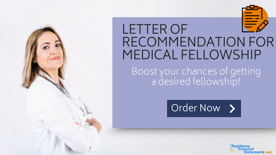 letter of recommendation for medical fellowship help