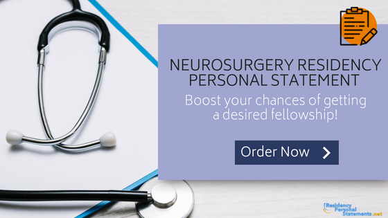 neurosurgery residency personal statement writing