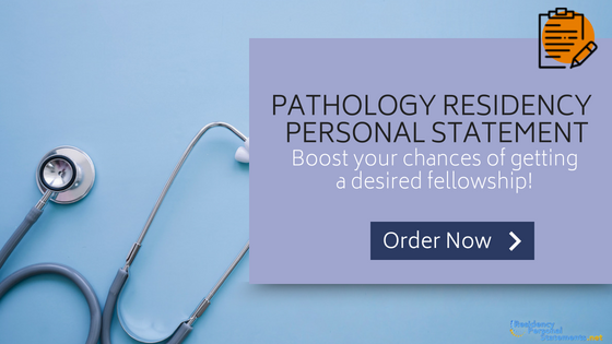 pathology residency personal statement writing
