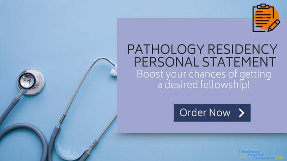 pathology residency personal statement writing