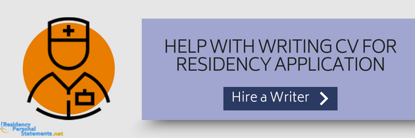 professional cv for residency application