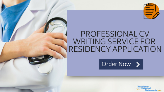 residency application cv writing service