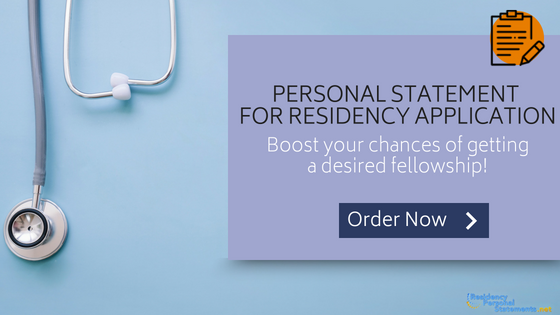 residency application personal statement writing service