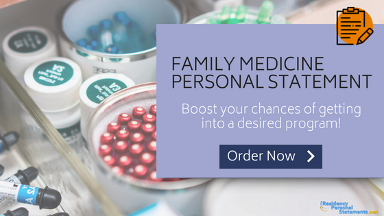 Family Medicine Personal Statement Sample | Residency Help