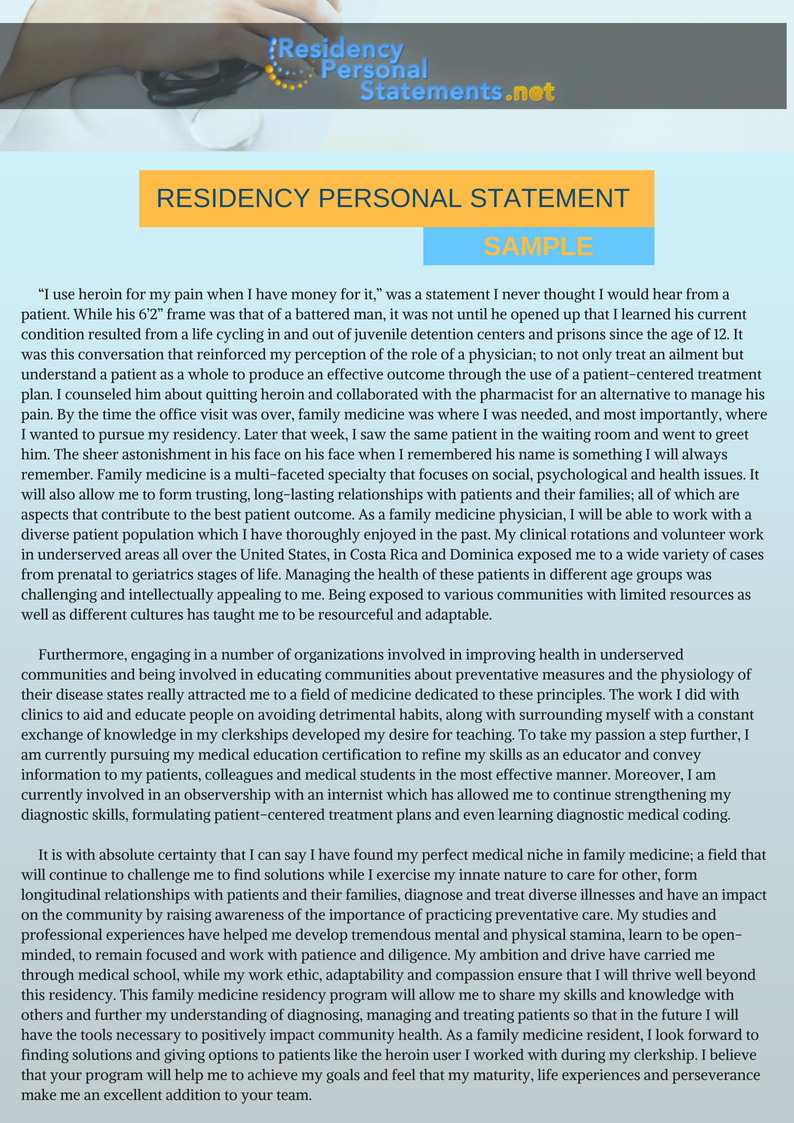 aegd personal statement sample