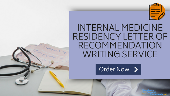 letter of recommendation residency writing service