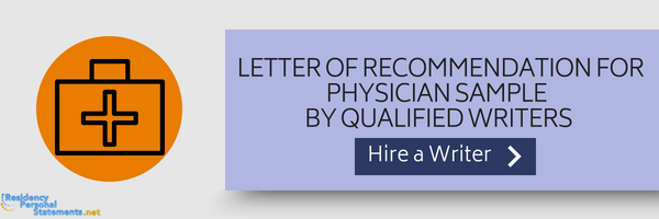 physician letter of recommendation sample by experts