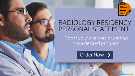 radiology residency personal statement writing service