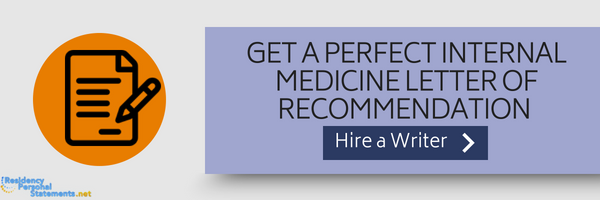 well-written sample letter of recommendation for internal medicine residency