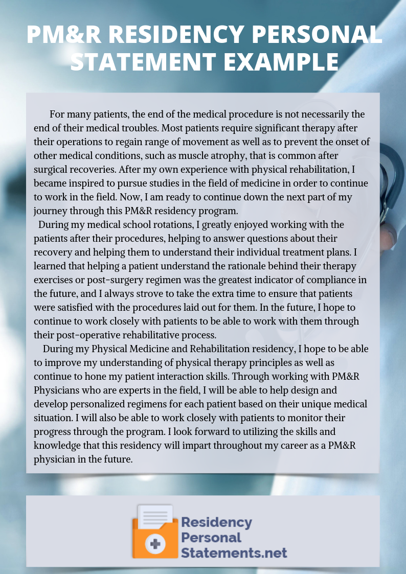 Medical Student's Guide to PM&R Residency Personal Statement