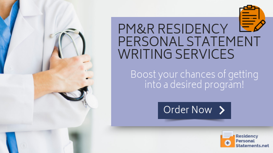 writing pmr residency personal statement