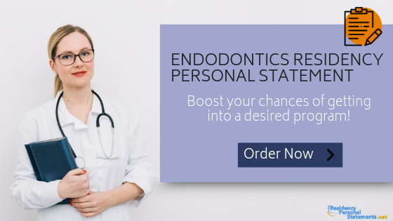 endodontics residency personal statement writing