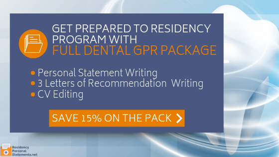 get the best dental gpr personal statement