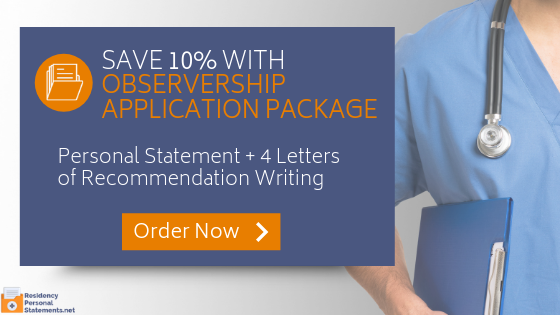 observership letter of recommendation writing service
